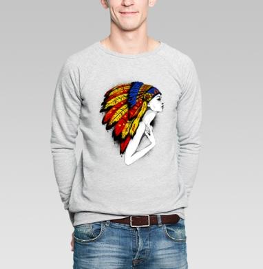 Индеец - Купить мужские свитшоты модные в Москве, цена мужских  модных  с прикольными принтами - магазин дизайнерской одежды MaryJane