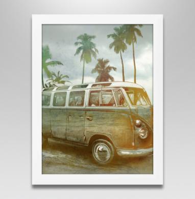 Куба рядом, Постер в белой раме