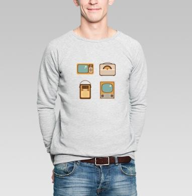 Ретро радио - Купить мужские свитшоты винтажные в Москве, цена мужских свитшотов винтажных  с прикольными принтами - магазин дизайнерской одежды MaryJane