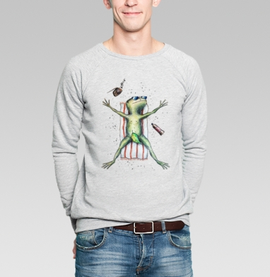 Скорее бы на пляж   - Купить мужские свитшоты с летом в Москве, цена мужских  с летом  с прикольными принтами - магазин дизайнерской одежды MaryJane