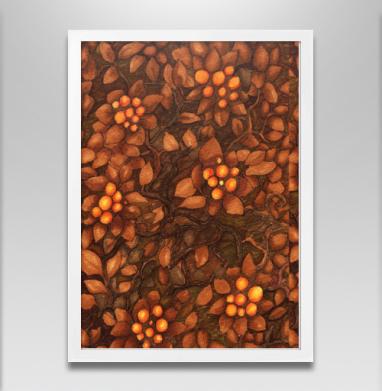 Осень - Постер в белой раме, осень