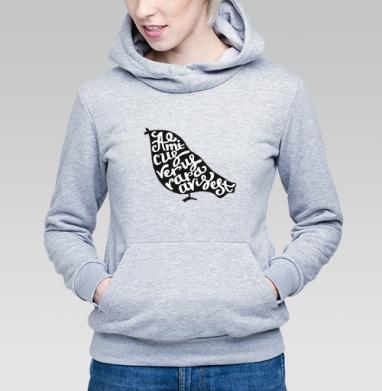 Хороший друг - редкая птица (латынь) - Купить детские толстовки с птицами в Москве, цена детских толстовок с птицами  с прикольными принтами - магазин дизайнерской одежды MaryJane