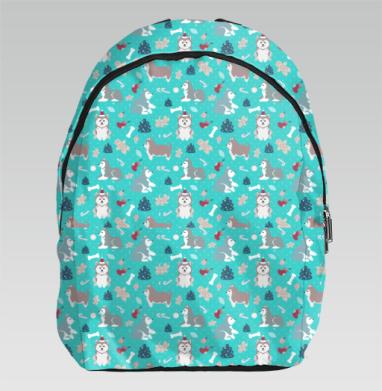 Очаровательные рождественские хаски - Рюкзак
