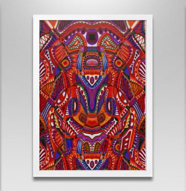 Ткань мира - Постер в белой раме, aбстрактные