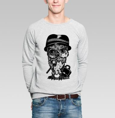 Сова - Купить мужские свитшоты с графикой в Москве, цена мужских  с графикой  с прикольными принтами - магазин дизайнерской одежды MaryJane