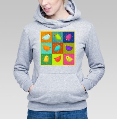 Птичий базар - Купить детские толстовки с птицами в Москве, цена детских толстовок с птицами  с прикольными принтами - магазин дизайнерской одежды MaryJane