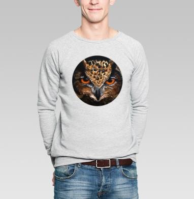 Свитшот мужской без капюшона серый меланж - Филин
