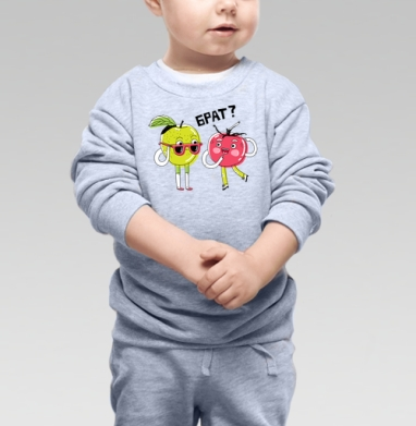 Брат - Купить детские свитшоты с фруктами в Москве, цена детских свитшотов с фруктами  с прикольными принтами - магазин дизайнерской одежды MaryJane