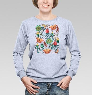 Цветочный паттерн - Купить детские свитшоты паттерн в Москве, цена детских свитшотов с паттерном  с прикольными принтами - магазин дизайнерской одежды MaryJane
