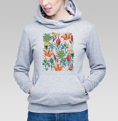 Цветочный паттерн - Купить детские толстовки с бабочками в Москве, цена детских толстовок с бабочкой с прикольными принтами - магазин дизайнерской одежды MaryJane