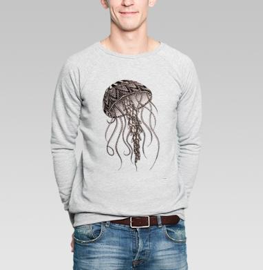 Медуза хищная - Купить мужские свитшоты морские  в Москве, цена мужских  морских   с прикольными принтами - магазин дизайнерской одежды MaryJane