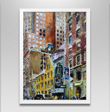 Среди гигантов запечатка - Постер в белой раме, город