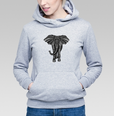 Слон металлик - Купить детские толстовки паттерн в Москве, цена детских толстовок с паттерном  с прикольными принтами - магазин дизайнерской одежды MaryJane