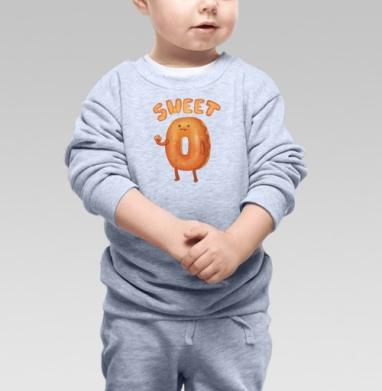 Cвитшот Детский серый меланж - Любитель пончиков