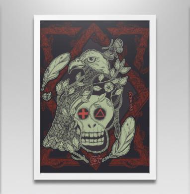 Птица бессмертия ф - Постер в белой раме, символ