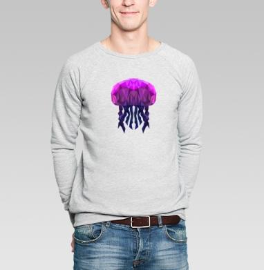 Полигональная медуза - Купить мужские свитшоты с рыбой в Москве, цена мужских свитшотов с рыбой  с прикольными принтами - магазин дизайнерской одежды MaryJane