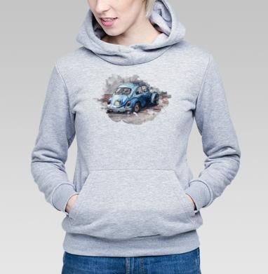 Фольксваген жук (муж.), Толстовка Женская серый меланж 340гр, теплая