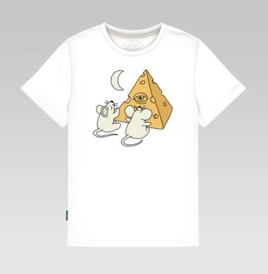 Детская футболка белая 160гр - Сыр