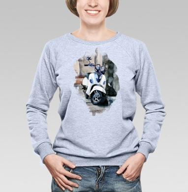 Мотороллер Веспа - Купить детские свитшоты с мотоциклами в Москве, цена детских свитшотов с мотоциклами  с прикольными принтами - магазин дизайнерской одежды MaryJane