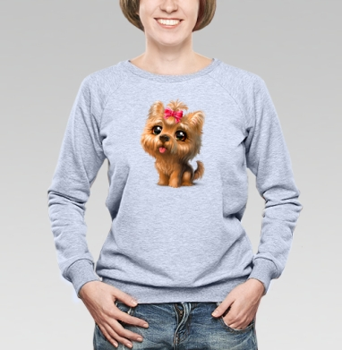 Йоркширский терьер - Купить детские свитшоты с собаками в Москве, цена детских свитшотов с собаками  с прикольными принтами - магазин дизайнерской одежды MaryJane