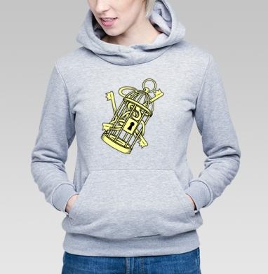 Золотые ключи в золотой клетке, Толстовка Женская серый меланж 340гр, теплая