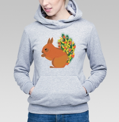 Белочка - Купить детские толстовки Новый год в Москве, цена детских толстовок новогодних  с прикольными принтами - магазин дизайнерской одежды MaryJane