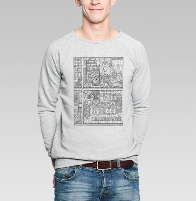 Разрез - Купить мужские свитшоты с рыбой в Москве, цена мужских свитшотов с рыбой  с прикольными принтами - магазин дизайнерской одежды MaryJane