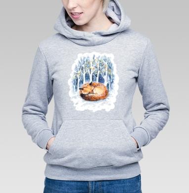 Зимняя лисичка - Купить детские толстовки милые в Москве, цена детских толстовок милых  с прикольными принтами - магазин дизайнерской одежды MaryJane