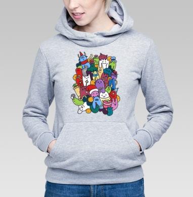 Новогодние монстры - Купить детские толстовки Текстуры в Москве, цена детских  Текстуры с прикольными принтами - магазин дизайнерской одежды MaryJane