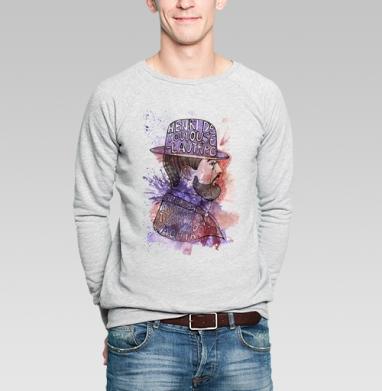 Тулуз-Лотрек - Купить мужские свитшоты с акварелью в Москве, цена мужских свитшотов с акварелью  с прикольными принтами - магазин дизайнерской одежды MaryJane
