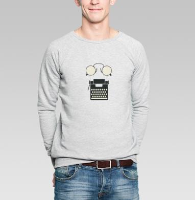 Писатель романов - Купить мужские свитшоты винтажные в Москве, цена мужских свитшотов винтажных  с прикольными принтами - магазин дизайнерской одежды MaryJane