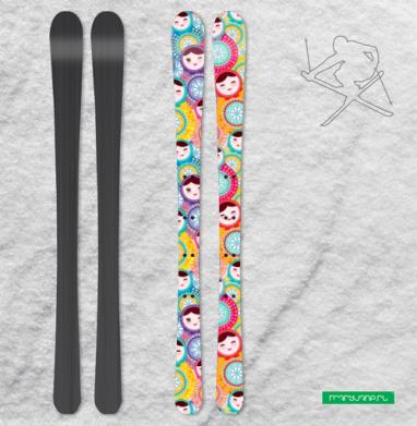 Матрешки - полная запечатка - Наклейки на лыжи