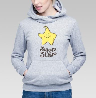 Супер Звезда - Прикольные толстовки для девушек