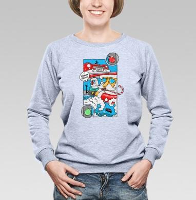 На Светофоре - Купить женские свитшоты с автомобилями в Москве, цена женских свитшотов с автомобилями  с прикольными принтами - магазин дизайнерской одежды MaryJane