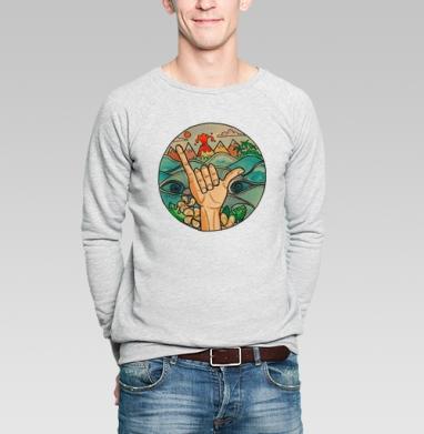 ВСЕМ СЁРФИНГ - Купить мужские свитшоты с акварелью в Москве, цена мужских свитшотов с акварелью  с прикольными принтами - магазин дизайнерской одежды MaryJane