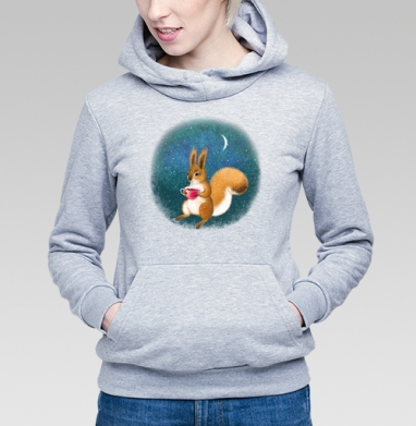 Белка-полуночница - Купить детские толстовки с графикой в Москве, цена детских  с графикой  с прикольными принтами - магазин дизайнерской одежды MaryJane