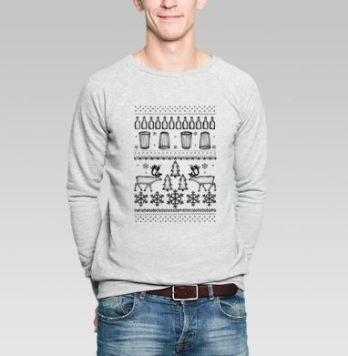 ОЛЕНИОЛЕНИ - Купить мужские свитшоты Новый год в Москве, цена мужских  новогодних  с прикольными принтами - магазин дизайнерской одежды MaryJane