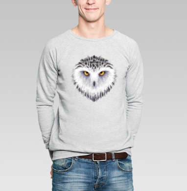 Зимняя сова - Купить мужские свитшоты с птицами в Москве, цена мужских свитшотов с птицами  с прикольными принтами - магазин дизайнерской одежды MaryJane