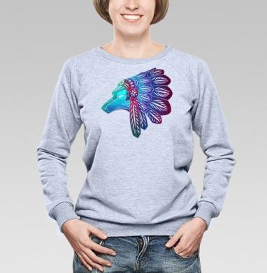 Индеец племени Чероки - Купить детские свитшоты с волками в Москве, цена детских свитшотов с волками  с прикольными принтами - магазин дизайнерской одежды MaryJane