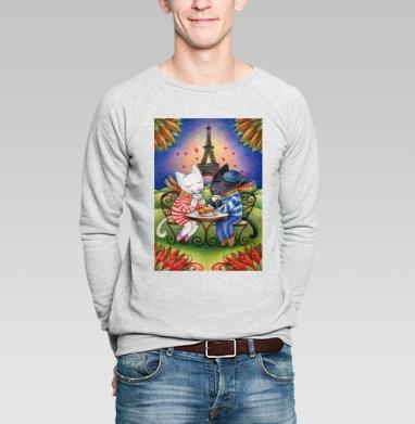 Круассан - Купить мужские свитшоты с кошками в Москве, цена мужских  с кошками  с прикольными принтами - магазин дизайнерской одежды MaryJane