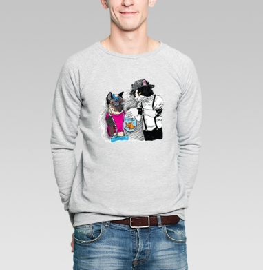 Подарок для подружки - Купить мужские свитшоты с рыбой в Москве, цена мужских свитшотов с рыбой  с прикольными принтами - магазин дизайнерской одежды MaryJane