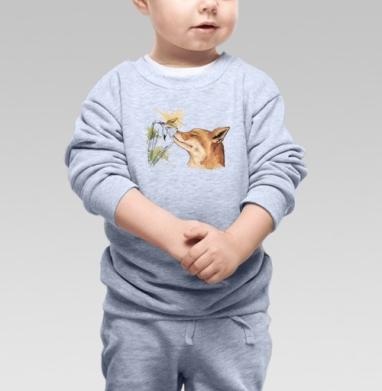 Cвитшот Детский серый меланж - Лис
