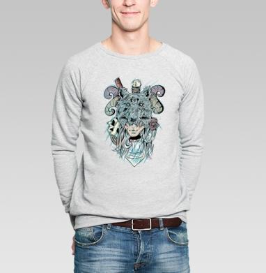 Охотница  - Купить мужские свитшоты с волками в Москве, цена мужских свитшотов с волками  с прикольными принтами - магазин дизайнерской одежды MaryJane
