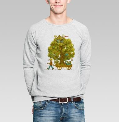 По дороге жизни - Купить мужские свитшоты с деревьями в Москве, цена мужских свитшотов с деревьями  с прикольными принтами - магазин дизайнерской одежды MaryJane