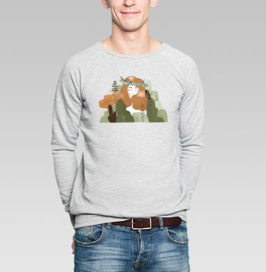 Зорька - Купить мужские свитшоты с природой в Москве, цена мужских свитшотов с природой  с прикольными принтами - магазин дизайнерской одежды MaryJane
