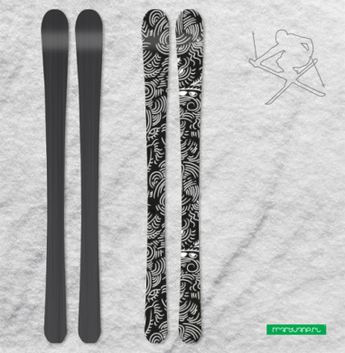 - Депрессивный паттерн - - Наклейки на лыжи