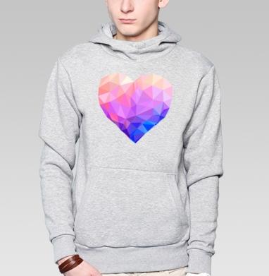 Геометрия любви - Купить толстовку с капюшоном мужскую