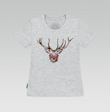 Футболка женская серый меланж - Dear deer