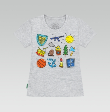 Футболка женская серый меланж - Ребус