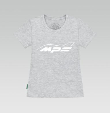 Футболка женская серый меланж - Mazda MPS Аeroplane